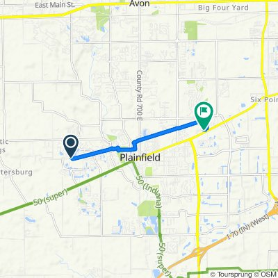 5073 W Bay Rd, Plainfield to 2382 E Main St, Plainfield