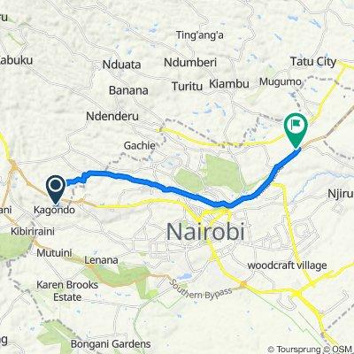 Muhuri Road 80, Kikuyu to Nairobi