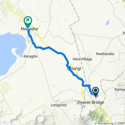 Thika-Mangu Flyover Road to Naivasha Railway Station