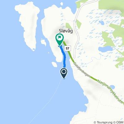 De Gulafjordvegen 75 à Sløvåg ferjekai