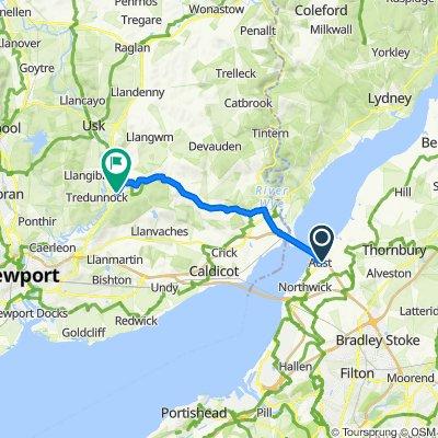 Main Road, Bristol to Llwynau Lane, Usk