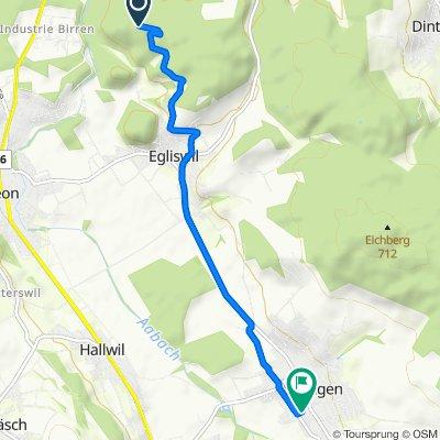 Route nach Steinbrunnengasse 5, Seengen