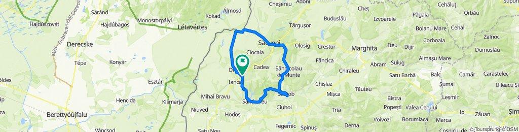 Traseu 2 - Drumul Vinului - Diosig - Santimreu - Saniob - Sacuieni - Diosig