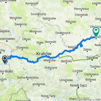 Kaniówek II, Dankowice to Droga Krajowa 73 33-230, Szczucin