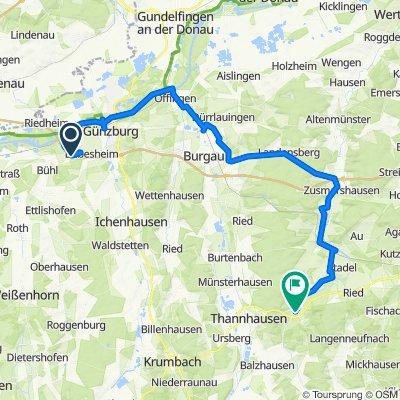Grüner Weg 1A, Leipheim nach Vesperbilder Straße 1, Ziemetshausen