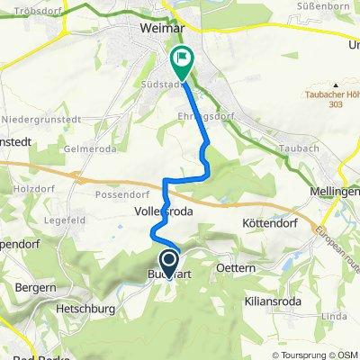 Am Saalborner Weg 44, Buchfart nach Belvederer Allee 25, Weimar