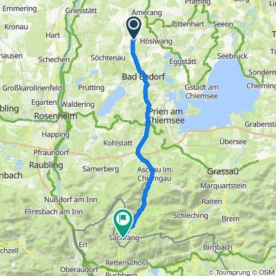 Am Graben 5–19, Halfing nach Kirchstraße 13, Aschau im Chiemgau