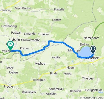 Route nach Volzendorf, Lemgow