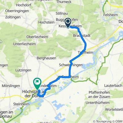 Bissingen nach Bürgermeister-Grimminger-Straße 11/2, Höchstädt