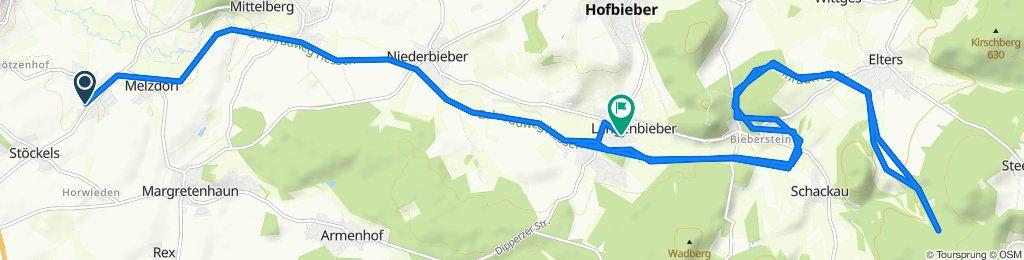 Almendorfer Straße 22, Petersberg nach An der Bieber 18, Hofbieber