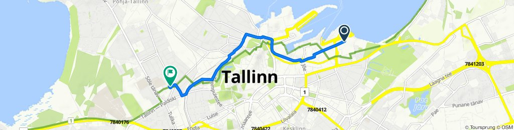 От Pikksilma 13, Tallinn до Roo 2, Tallinn