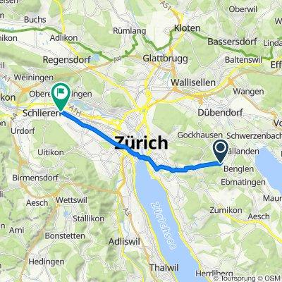 Zürichstrasse 75, Pfaffhausen nach Zürcherstrasse 123, Schlieren
