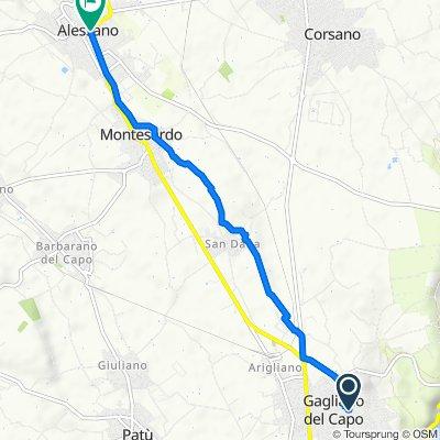 Via Umberto Prima 60, Gagliano del Capo to Piazza Don Tonino Bello 21–23, Alessano