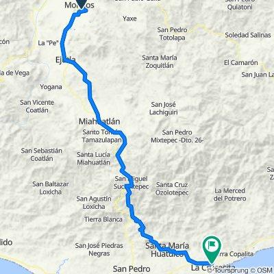 Ruta a Calle Laguna Chacahua 40–44, Crucecita