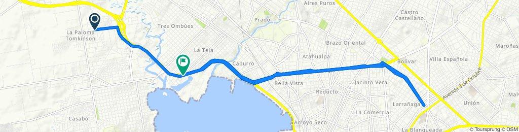 De Camino La Boyada 2180, Montevideo a Joaquin R. Sanchez 1128, Montevideo
