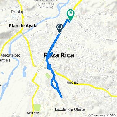 De Avenida 20 de Noviembre 83, Poza Rica de Hidalgo a Calle Francisco Sarabia 200, Poza Rica de Hidalgo