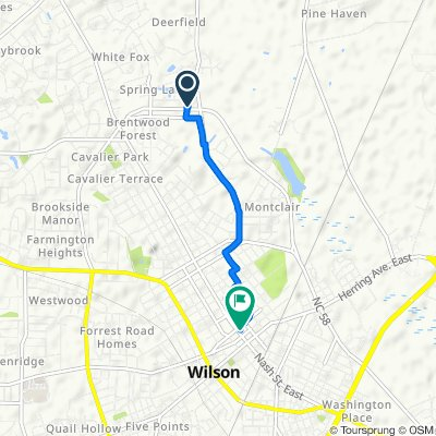 3101 Ward Blvd, Wilson to 110 Nash St W, Wilson