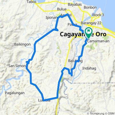7th Street 125, Cagayan de Oro to 21st Street 113, Cagayan de Oro