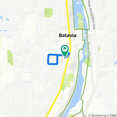 323 W Union Ave, Batavia to 328 Elm St, Batavia
