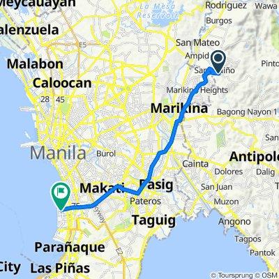 Barangay Silangan Road 14, San Mateo to Pasay