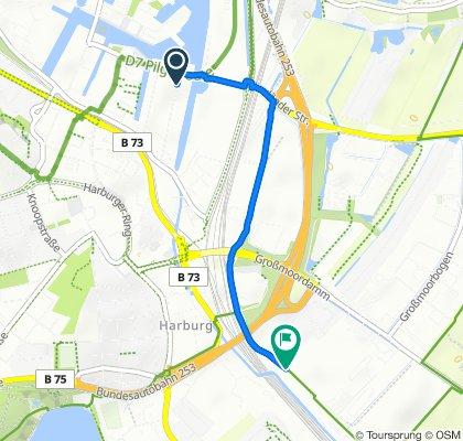 Theodor-Yorck-Straße 2–18, Hamburg nach Hörstener Straße 40, Hamburg