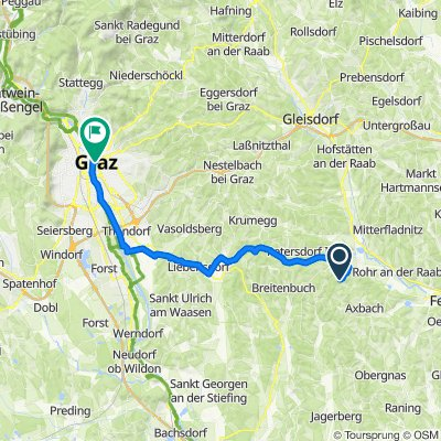 Wörth 183, Kirchberg an der Raab nach Hauptplatz 1, Graz