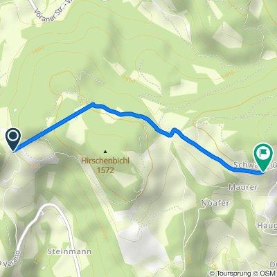 Rotensteinweg, Vöran nach Via Aschl/Eschio 15, Verano