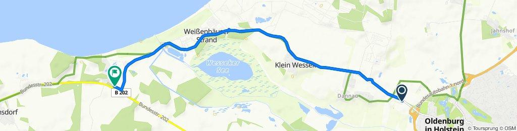 Putloser Chaussee, Oldenburg in Holstein nach Parkallee 9, Wangels