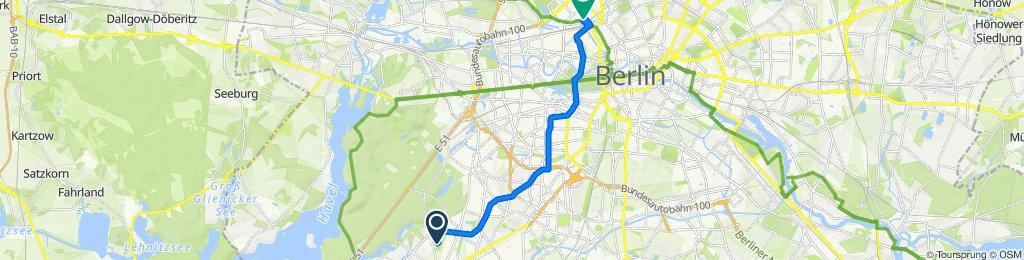 Reiherbeize 19, Berlin nach Tegeler Straße 41A, Berlin