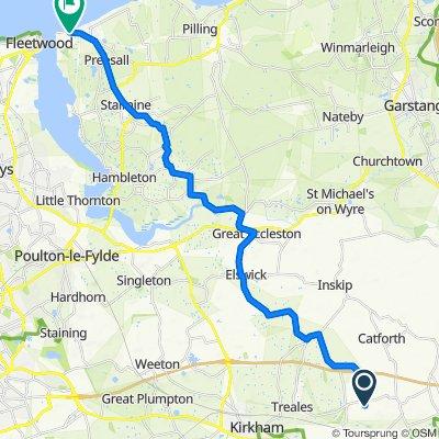 Clifton Trees Cottage, Harbour Lane, Preston to Lancaster Road, Knott End On Sea, Poulton-Le-Fylde