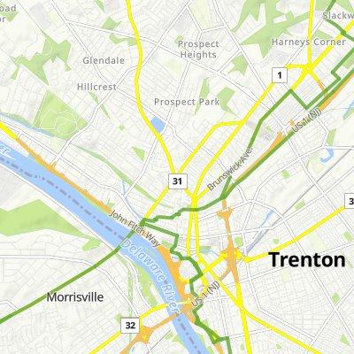 512 Union St, Trenton to 54 Pennwood Dr, Ewing