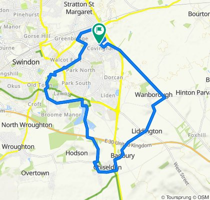 8 Linnetsdene, Swindon to 5 Linnetsdene, Swindon