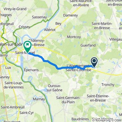 De 14A–20 Route de Saint-Martin-en-Bresse, L'Abergement-Sainte-Colombe à 14 Route de Dole, Saint-Marcel