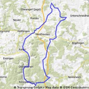 Tour Hirlbach - Heidenheim und zurück