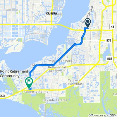 6020 E College Pointe Dr, Fort Myers to 16896 Windcrest Dr, Fort Myers