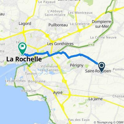 De 33 Rue de La Rochelle, Saint-Rogatien à Place de Verdun, La Rochelle