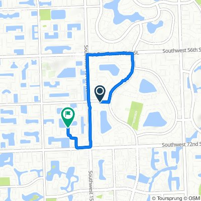 6400 SW 152nd Circle Pl, Kendall West to 15887 SW 68th Terr, Miami