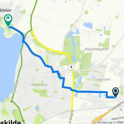 Trekroner Forskerpark, Roskilde to Baunehøjvej, Roskilde