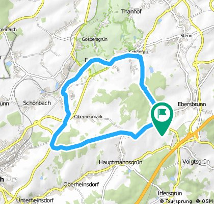 Ebersbrunn - Schönfels - Neumark - Schwarze Katze - Ebersbrunn