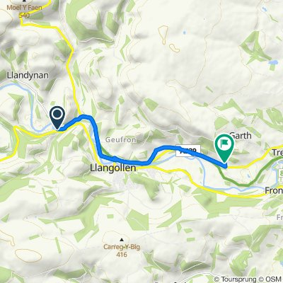 B5103 15 to Llangollen Road