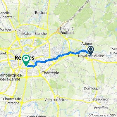 De D92, Noyal-sur-Vilaine à 106 Rue de l'Alma, Rennes