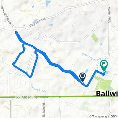 515 Kehrs Mill Rd, Ballwin to 280 Brite Star Ct, Ballwin