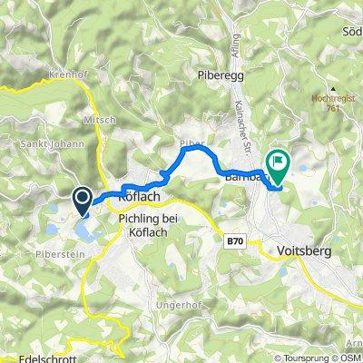 Hannackstraße 281b, Maria Lankowitz nach Peter-Leitner-Siedlung 41, Bärnbach