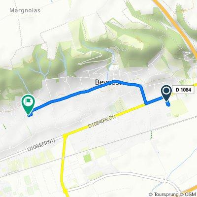 De 6330 Chemin de Pré Mayeux, Beynost à 1452B Rue Centrale, Beynost