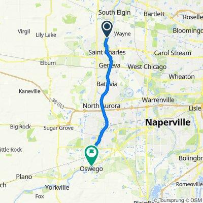 5N083 Grove Ave, Saint Charles to 19 Main St, Oswego