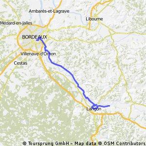 2 eme etape canal de lagaronne Bordeaux-Damazan