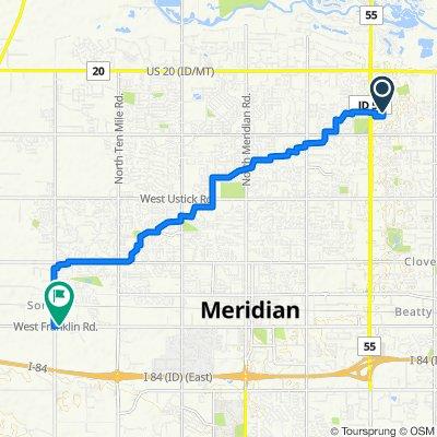 5367–5399 N Blue Ash Pl, Boise to 4670 W Franklin Rd, Meridian