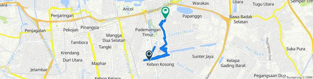 Jalan Angkasa B 6, Kecamatan Kemayoran to Jalan Ancol Selatan II 26, Tanjung Priok