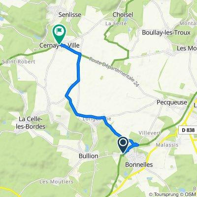 De 17 Avenue du Bois Biquet, Bonnelles à 2 Rue de Limours, Cernay-la-Ville