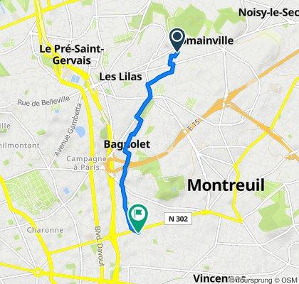 De 26 Avenue du Président Wilson, Romainville à 8 Rue Voltaire, Montreuil
